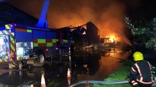 Fire crews at scene of large farm fire in Wisbech St Mary