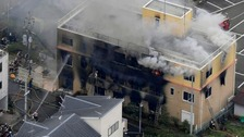 The fire at the Kyoto Animation studio is thought to have been an arson attack.