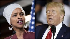 Ilhan Omar and Donald Trump