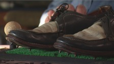 The shoes worn by 1951 Open winner Max Faulkner.
