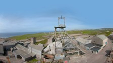 Geevor Tin Mine in Cornwall closed in 1990.