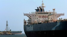 British oil tanker 'seized' and heading towards Iran