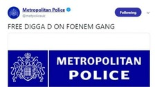 'Free Digga D': Hackers post bizarre 'unauthorised' messages on Met Police Twitter account