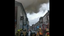 Fire breaks out at hotel in Rye