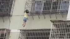 Girl, five, narrowly avoids fall after head gets stuck in railings