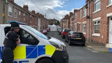 A police cordon remains at the scene in Chester-le-Street