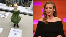 Kaleing Eve: Jodie Comer veg carving admired at country show