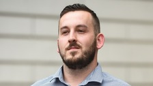 James Goddard, 30, was sentenced to eight weeks' imprisonment, suspended for a year and also handed a five-year restraining order.