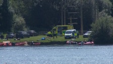 Emergency services search the lake