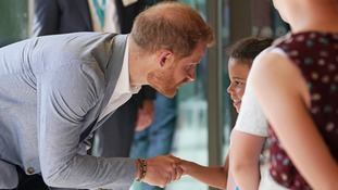 Prince Harry meets children at Sheffield Children's Hospital