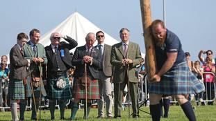 In Pictures: Charles enjoys glorious sunshine at Highland Games