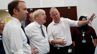 Matt Hancock and Boris Johnson