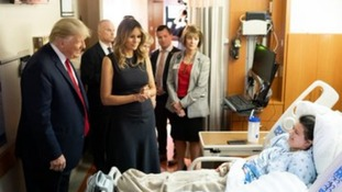 Donald and Melania Trump visited survivors of the shooting in Dayton.
