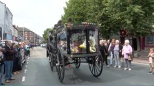 Joe Longthorne's funeral procession in Hull