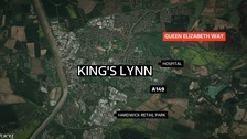 A map of the A149 at King's Lynn.