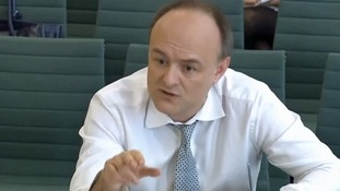 Dominic Cummings giving evidence to the Treasury Select Committee in 2016.