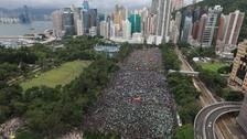 Reported 1.7m protesters flood Hong Kong in peaceful protest