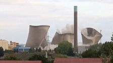 Homes across Oxfordshire without power after Didcot demolition