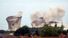Didcot cooling tower demolition