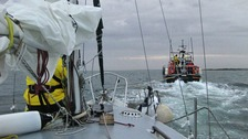Yacht towed to safety after getting into trouble off Norfolk coast