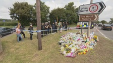 Police gather to pay tribute to fellow officer killed in Berkshire