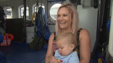Baby born on Coastguard rescue helicopter celebrates first birthday with crew