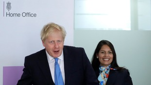 Prime Minister Boris Johnson and his new Home Secretary Priti Patel