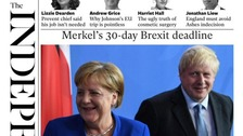Merkel's 30-day Brexit deadline for PM dominates the front pages
