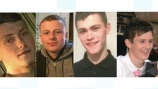 Four men who died in the crash