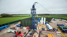 The Cuadrilla fracking site in Preston New Road, Little Plumpton, Lancashire.