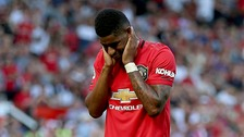 Marcus Rashford racially abused on social media after penalty miss