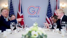 Trump says Johnson is 'right man' to deliver Brexit in G7 meeting