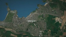 The child was found on a street in Newquay