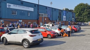 Volunteers have been arriving at Gigg Lane this morning after an appeal from the club to help clean up the stadium.