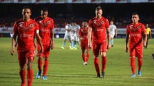 Veracruz players looked dejected as the trudged off the pitch following their 5-0 hammering at home against Queretaro on Tuesday.