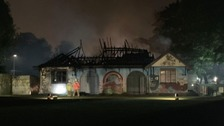 The clubhouse was burnt out during the fire on Suffolk Road