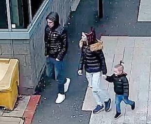 Alfie Lamb was captured on CCTV running to keep up with his mother