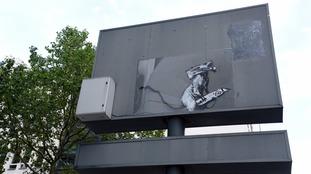 Banksy 'rat' artwork stolen from Pompidou Centre in Paris
