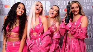 Leigh-Anne Pinnock, Jesy Nelson, Perrie Edwards and Jade Thirlwall of Little Mix with their Best British Video Brit Award.