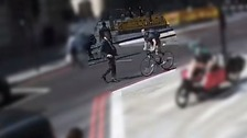 Cyclist's shocking headbutt leaves City worker needing stitches
