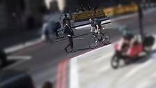Cyclist's shocking headbutt leaves City worker needing stitches