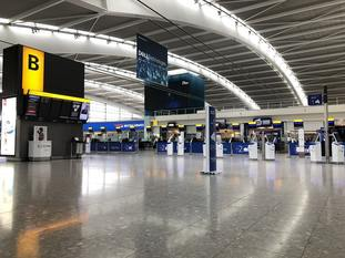 Terminal 5 at Heathrow Airport on the first day of the strike
