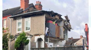 Half of house collapsed