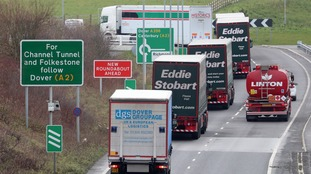 The document warns of delays for HGVs travelling via the Channel Tunnel.