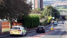 A police cordon on Harlow Green in Gateshead