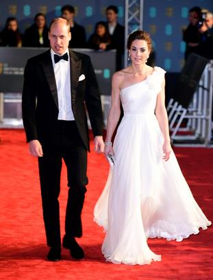 William and Kate at the 72nd British Academy Film Awards