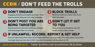 Newly-founded charity, Centre for Countering Digital Hate, has issued advice on tackling social media trolls.