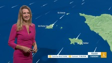 Mainly cloudy with fair or sunny intervals, cloud thickening overnight