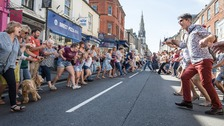 Hundreds take part in giant Hokey Cokey in Dorset town