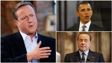 David Cameron, Barack Obama and Silvio Berlusconi